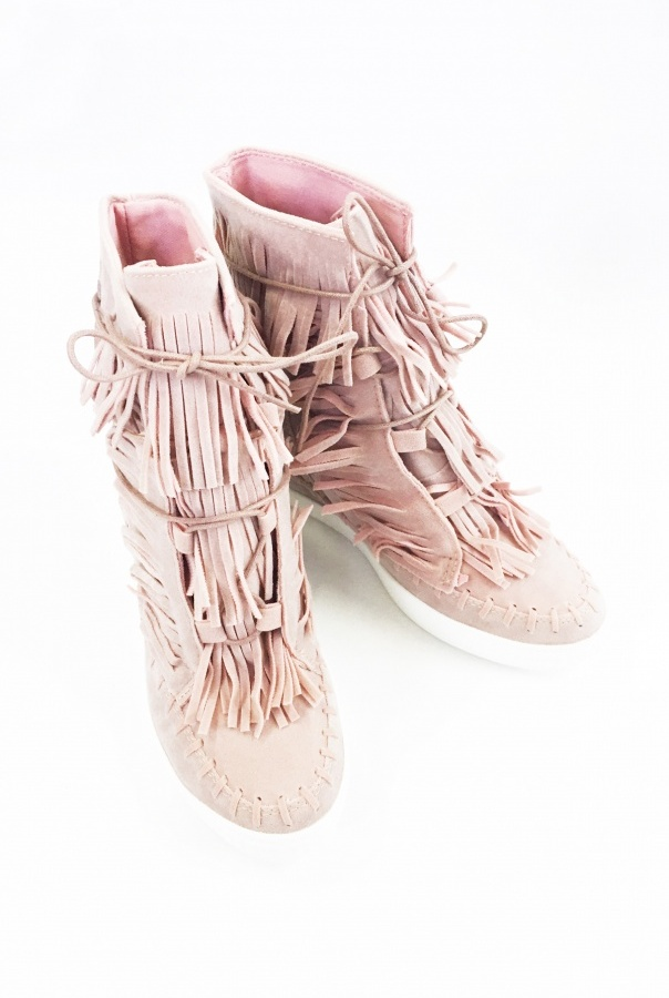 Sneakersy z frędzlami 1068/20-RÓŻOWY