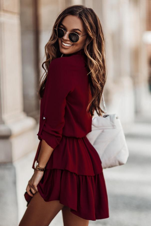 Sukienki 274-BORDO