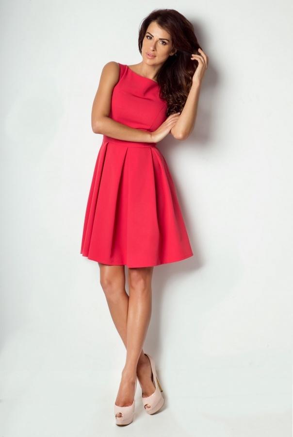 Sukienki 170-MALINOWY