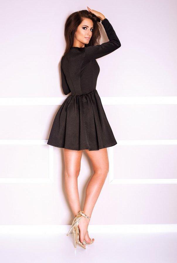 Sukienki 171-CZARNY