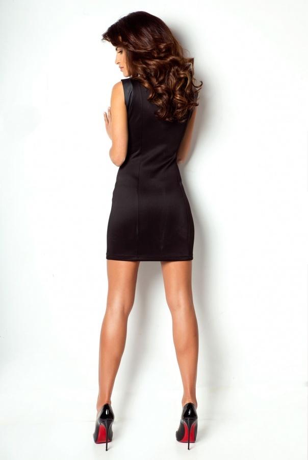 Sukienki 175-CZARNY