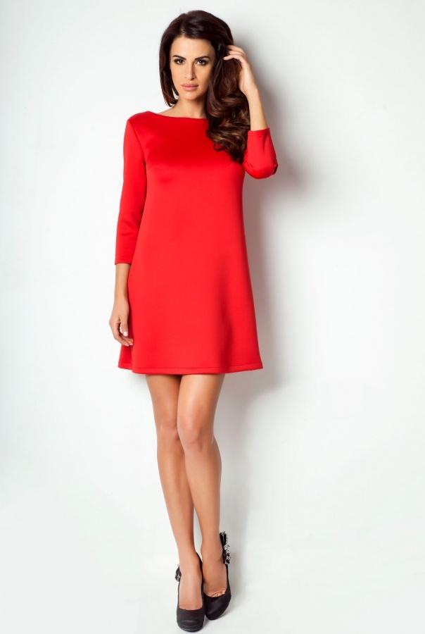 Sukienki 182-CZERWONY
