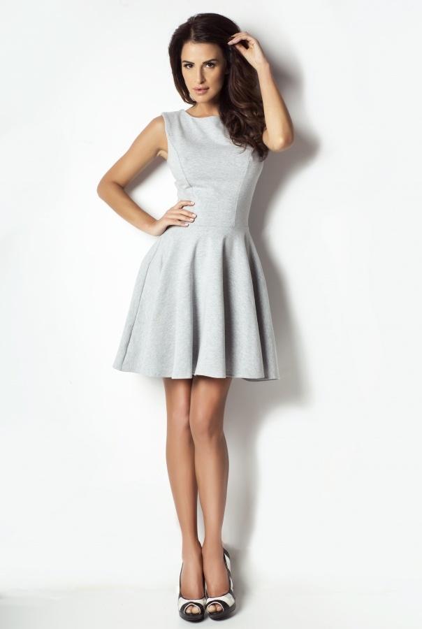 Sukienki 183-SZARY