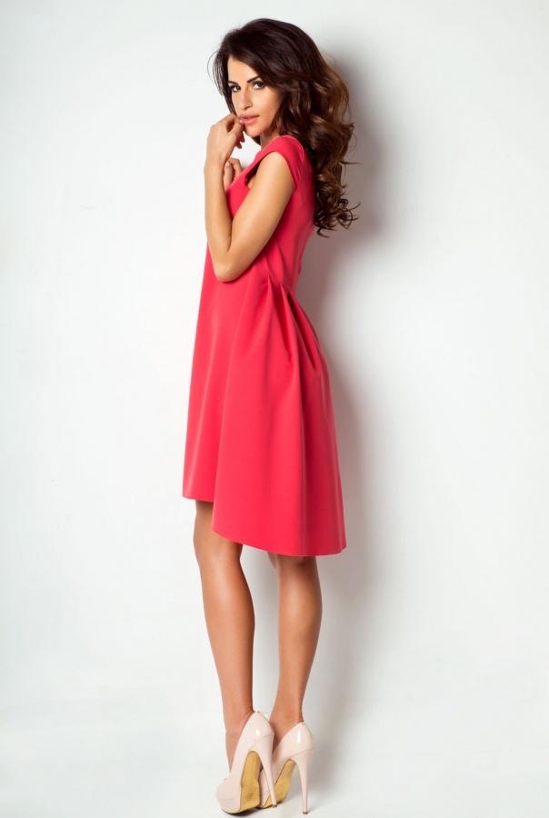 Sukienki 184-MALINOWY