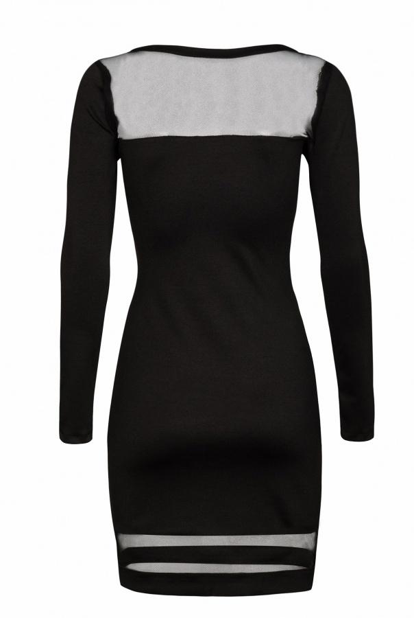Sukienki 185-CZARNY