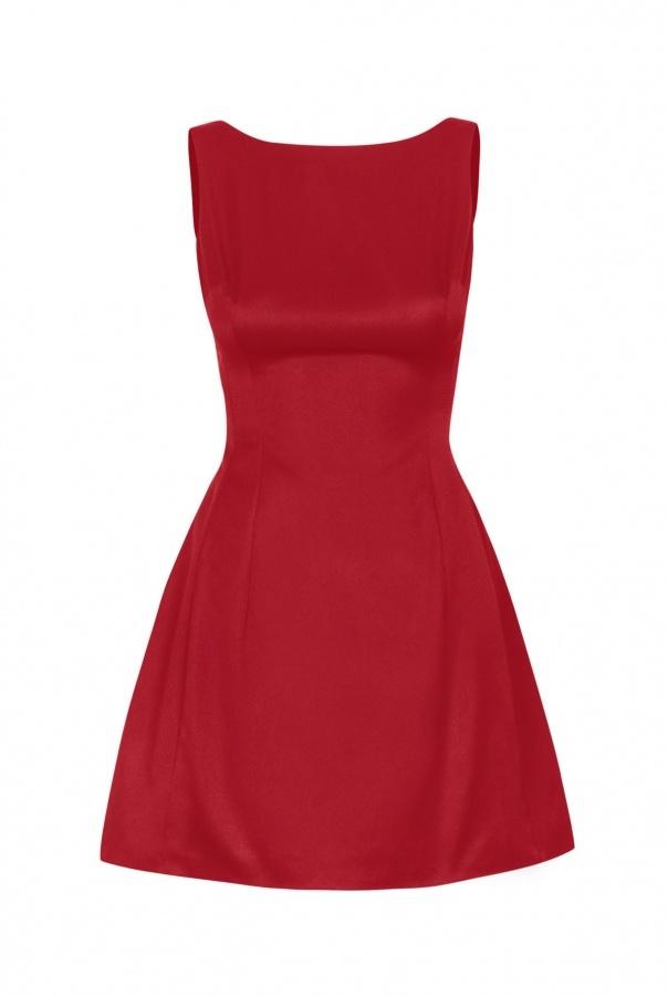 Sukienki 186-CZERWONY