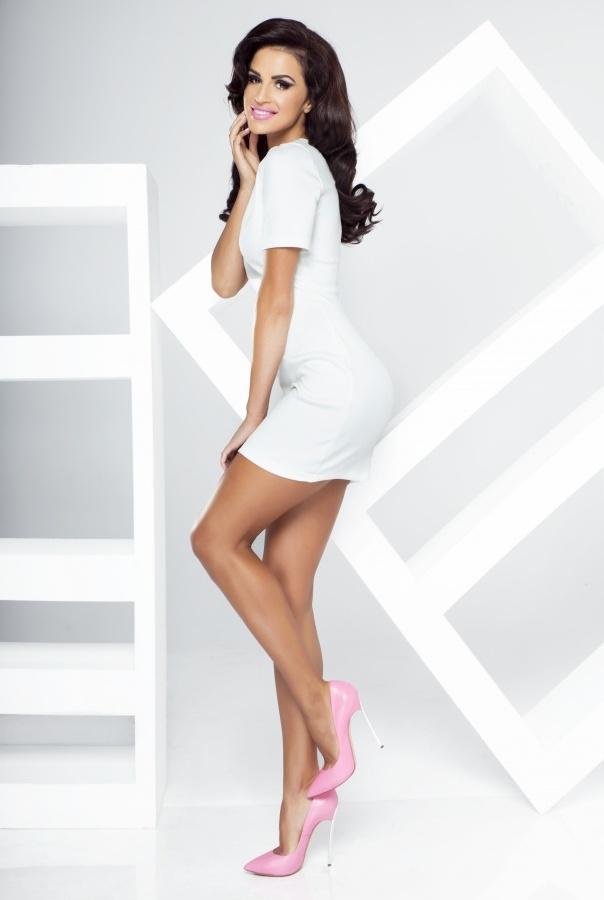 Sukienka Whitney 188-ECRU