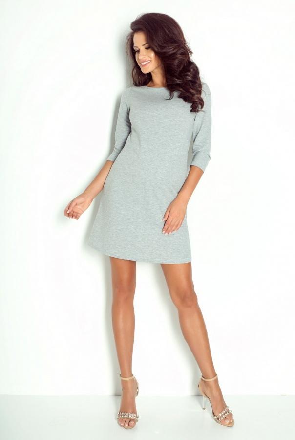 Sukienki 192-SZARY