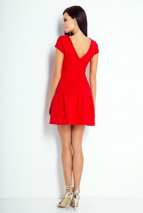 Sukienki 196-CZERWONY
