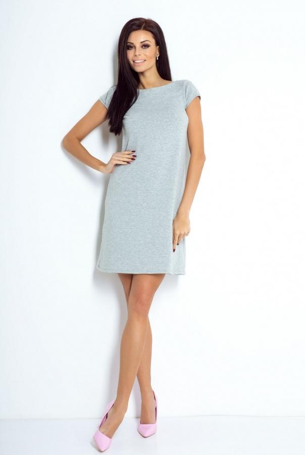 Sukienki 198-SZARY