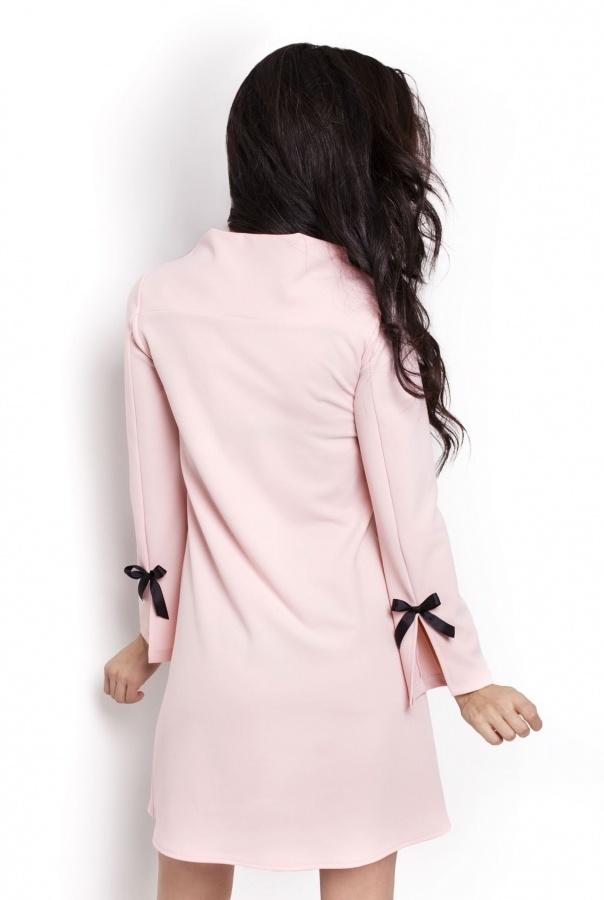 Sukienki 199-PUDROWY