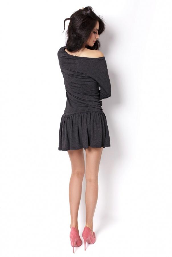 Sukienki 201-GRAFITOWY