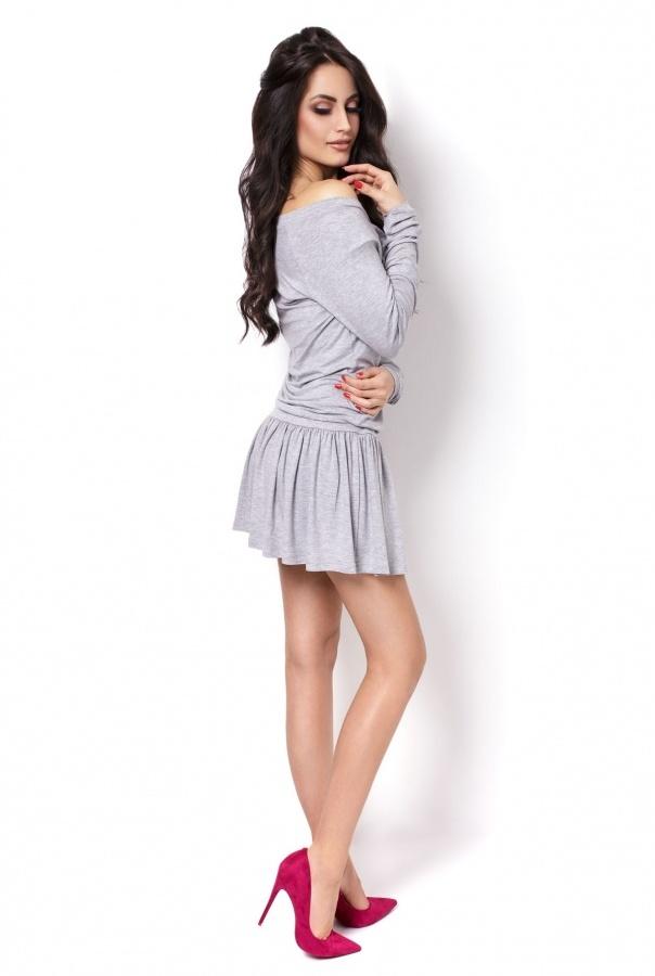 Sukienki 201-SZARY