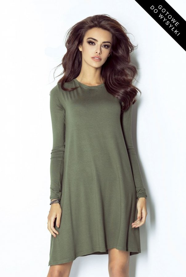 Sukienki 205-KHAKI
