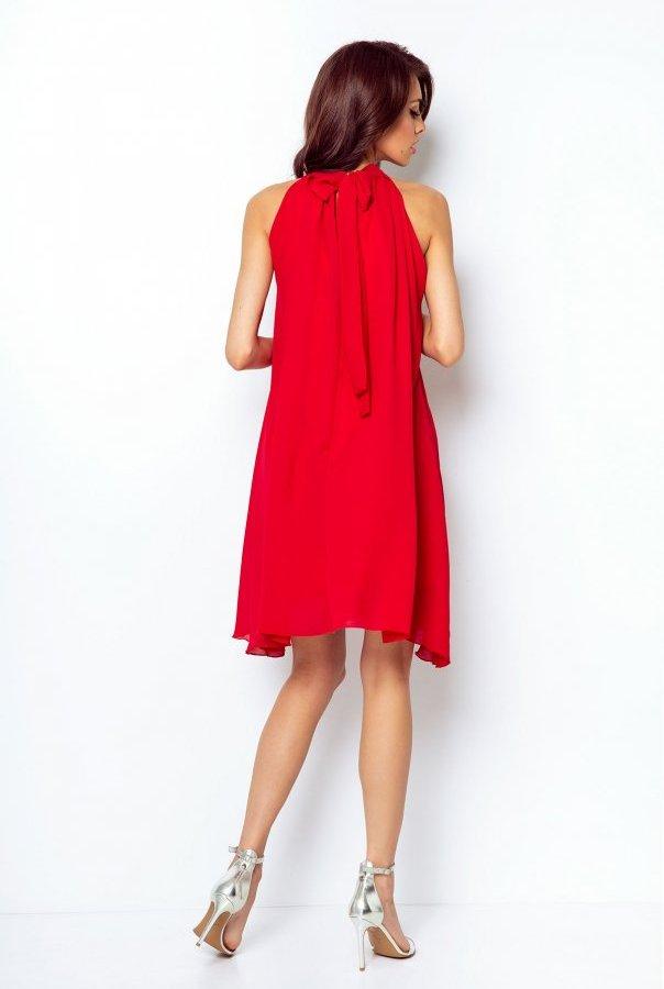 Sukienki 216-CZERWONY