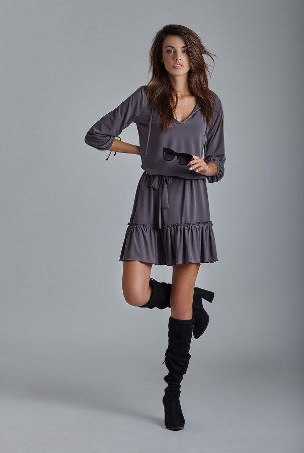 Sukienki 221-GRAFIT