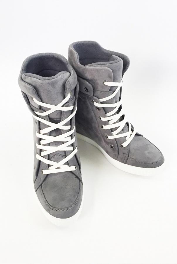 Wiązane Sneakersy 1125/6-SZARY