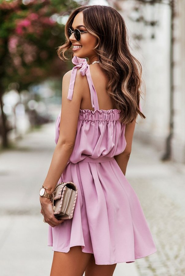 Sukienki 299-RÓŻ