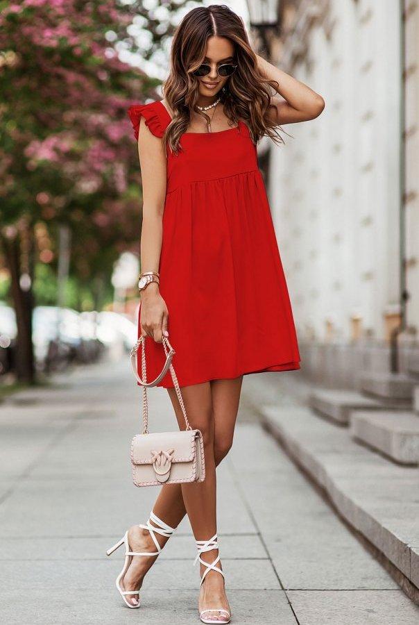 Sukienka NOEL 303-CZERWONY