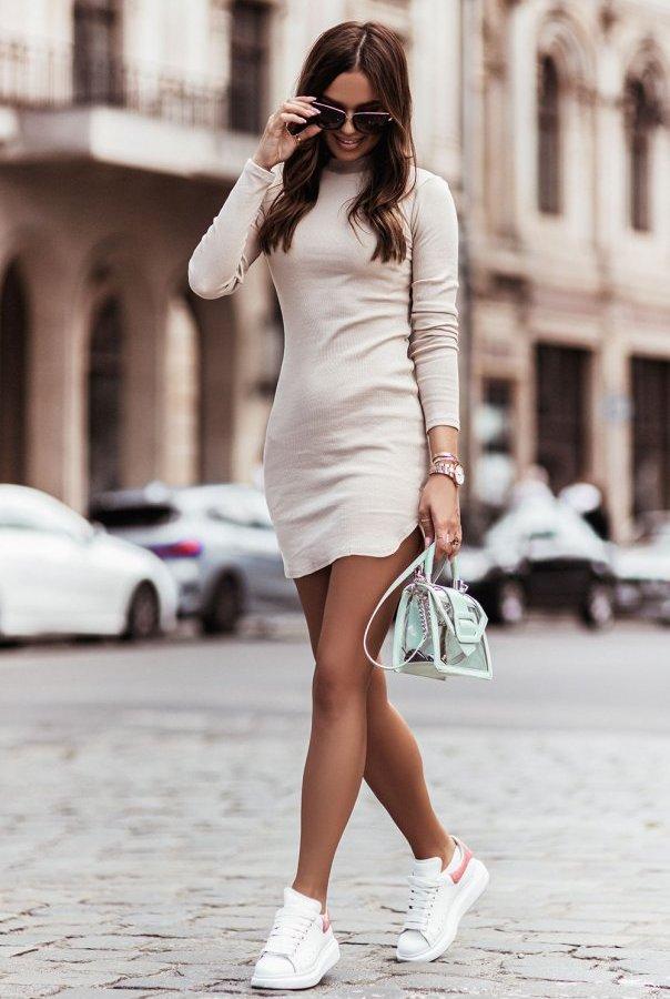 Sukienka MARINESSA 310-BEŻ
