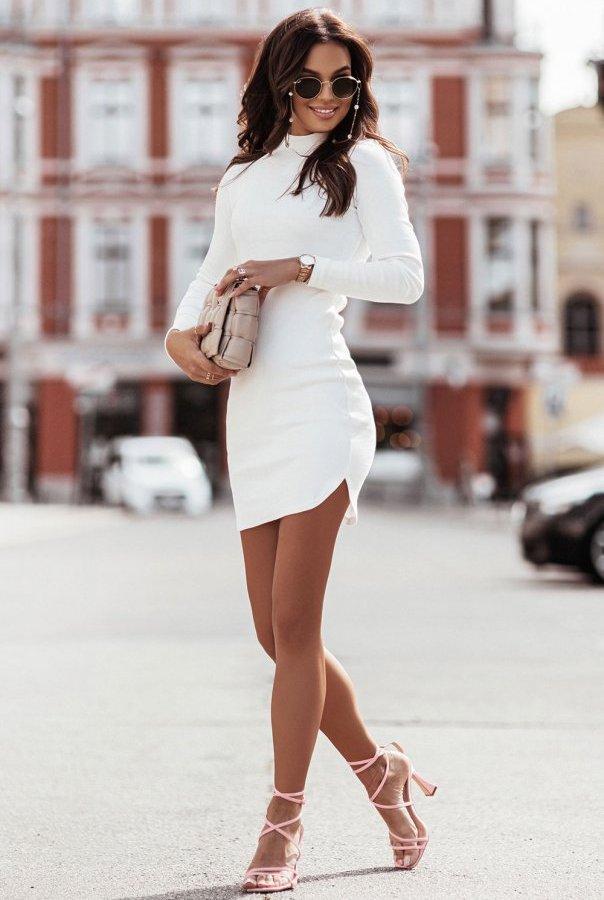 Sukienka MARINESSA 310-ŚMIETANKOWY