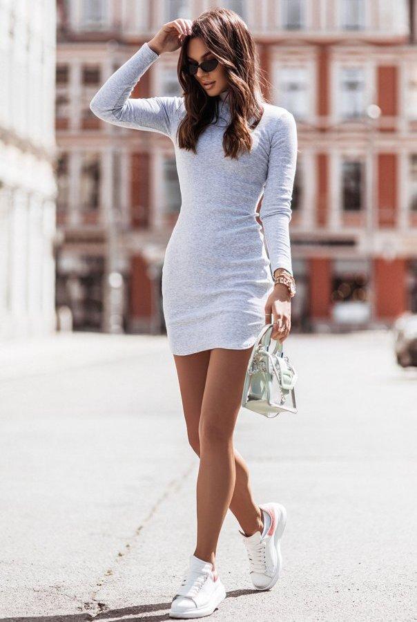 Sukienka MARINESSA 310-SZARY