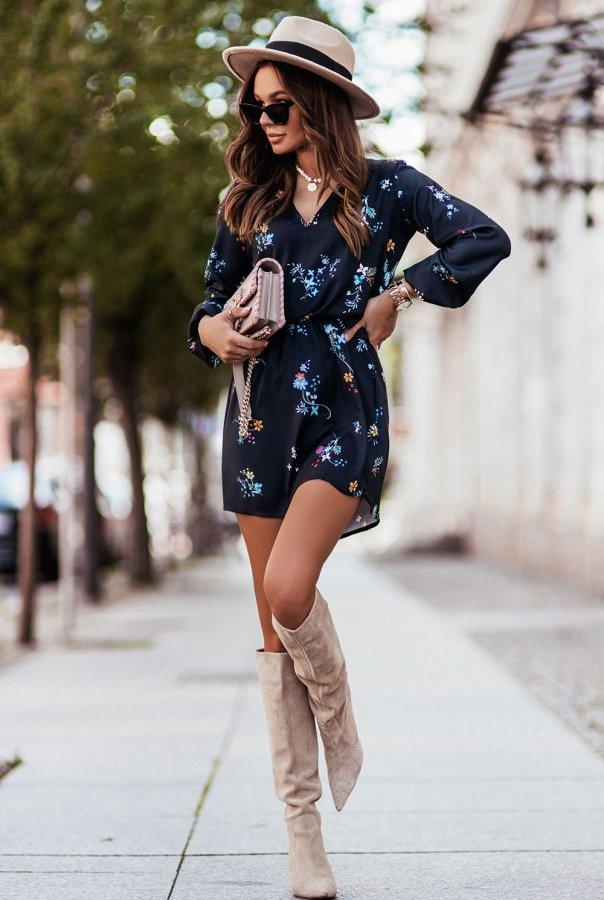 Sukienki 311-KWIATY