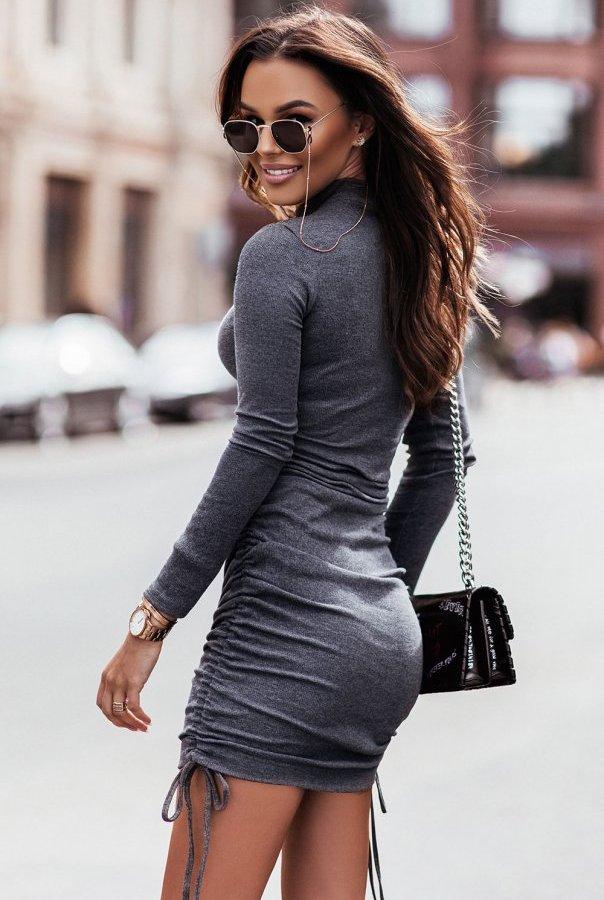 Sukienka NASTIA 314-ANTRACYT