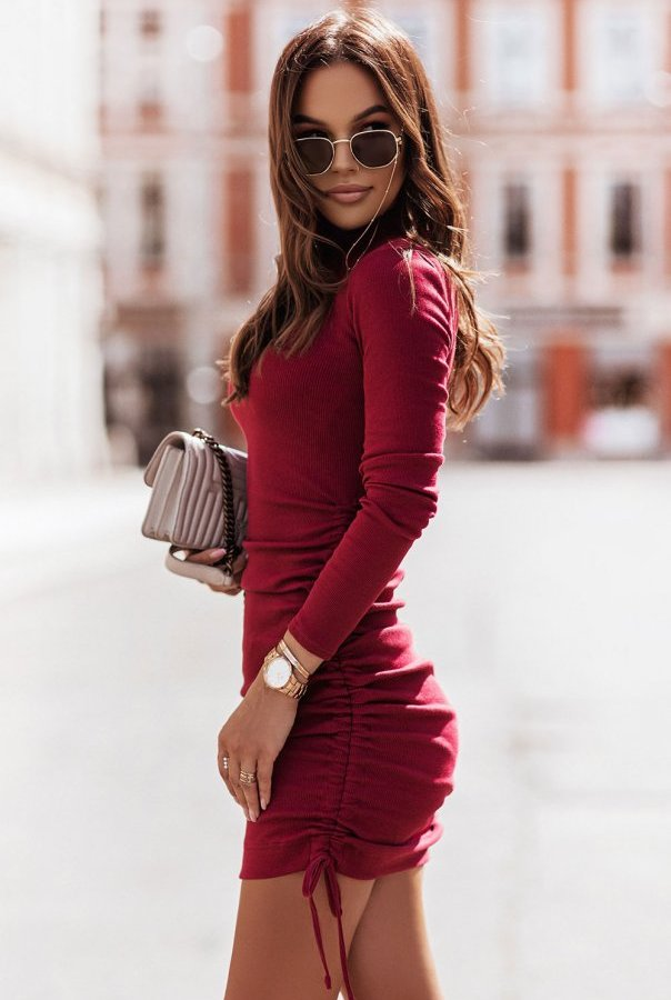 Sukienki 314-BORDO