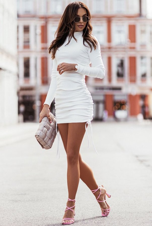 Sukienki 314-ŚMIETANKA