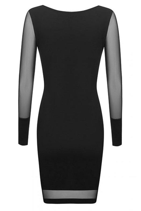 Sukienki 207-CZARNY