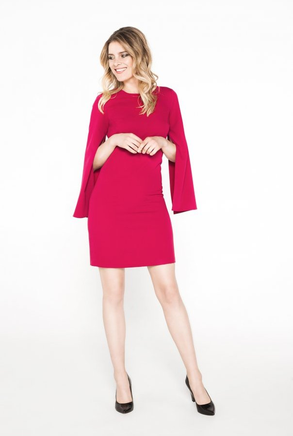 Sukienki CLARISSA-BORDOWY