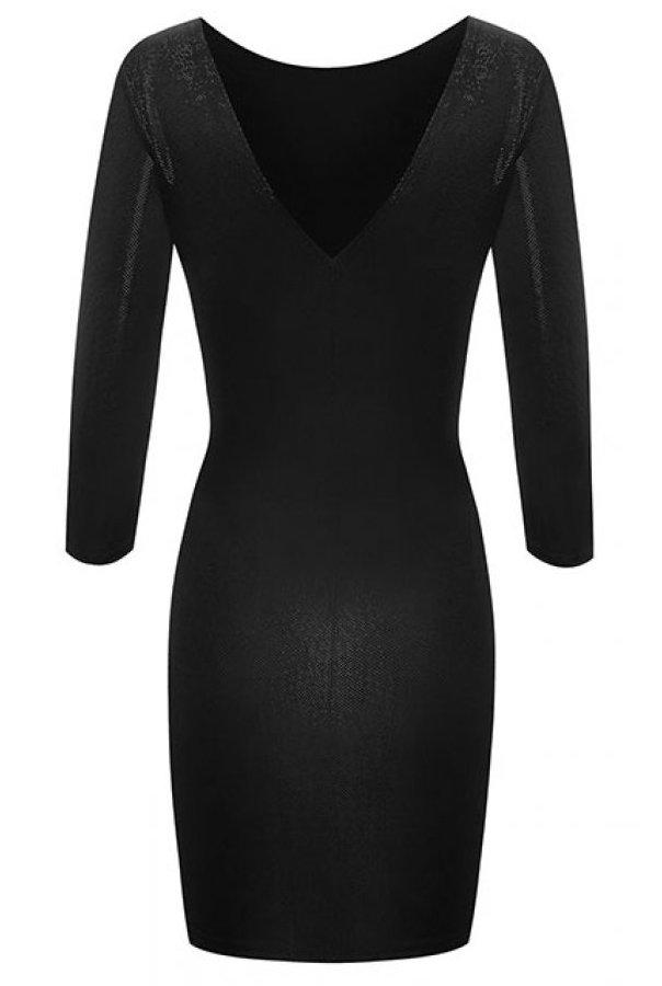 Sukienki 208-CZARNY