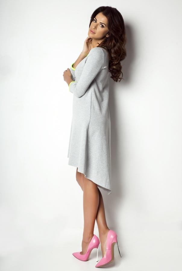 Sukienka asymetryczna D1-LIMONKA