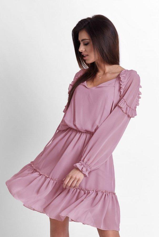 Sukienki 245-RÓŻOWY