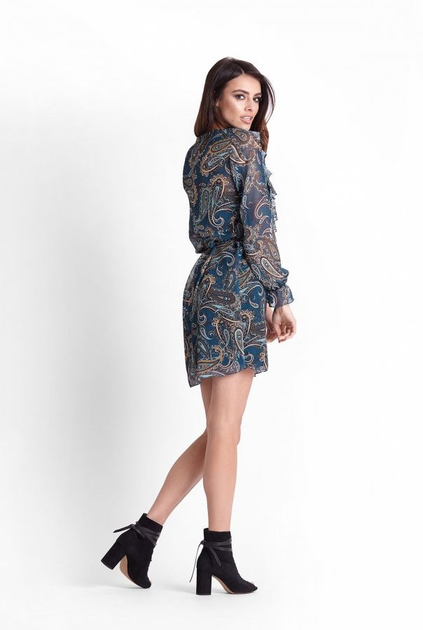 Sukienki 251-MORSKI
