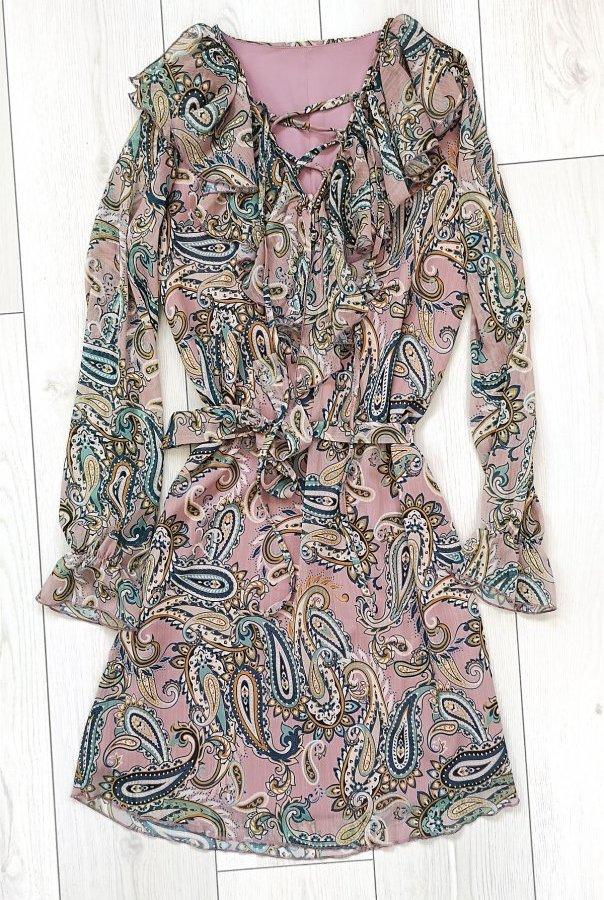 Sukienki 251-RÓŻOWY