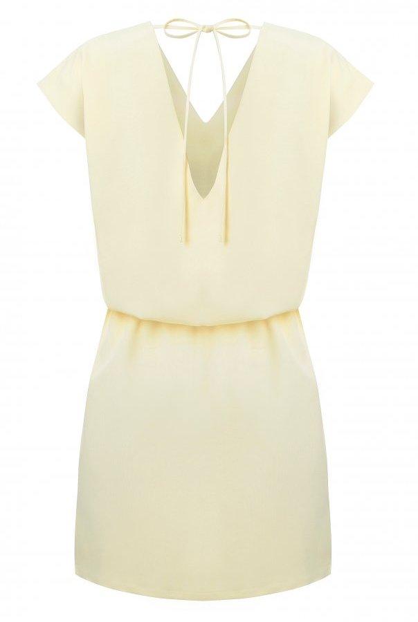 Sukienki 278-ŻÓŁTY