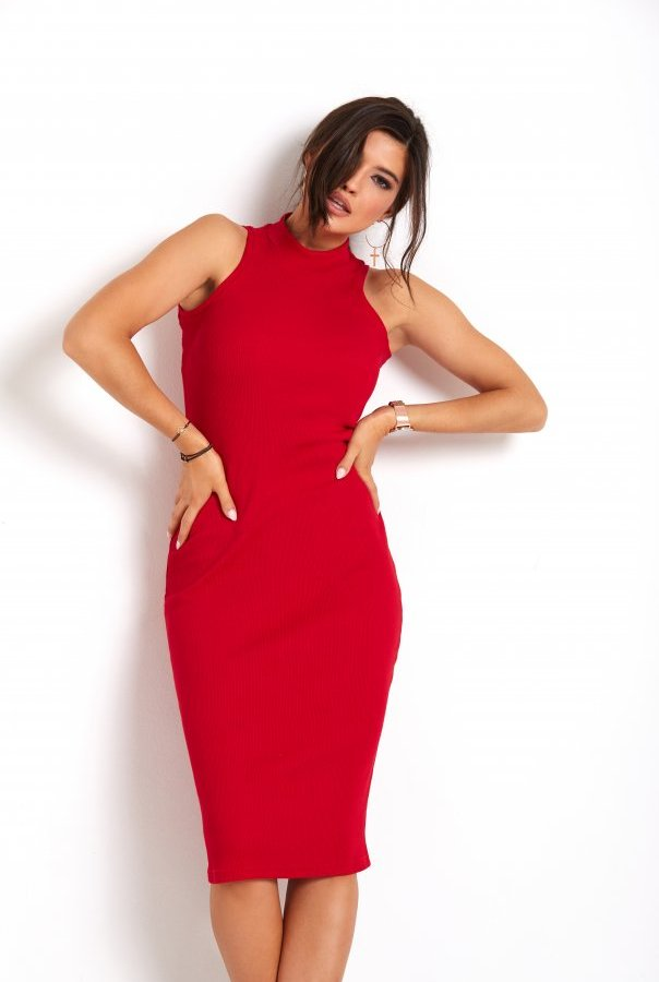 Sukienki 273-CZERWONY