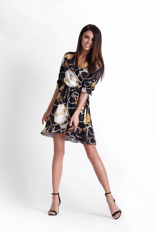 Sukienki 253-CZARNY
