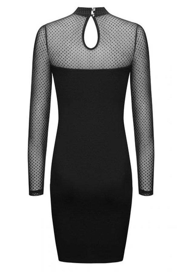 Sukienki 276-CZARNY