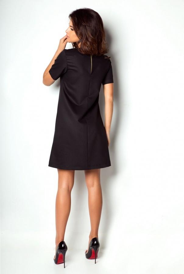 Sukienki P17-CZARNY