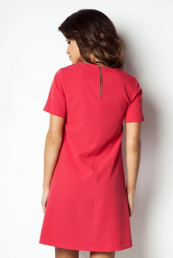 Sukienki P17-MALINOWY