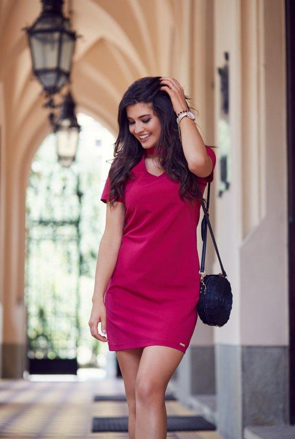 Sukienki 204-BORDO