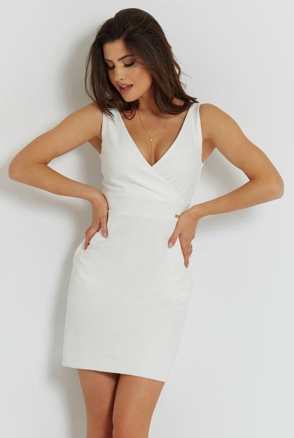 Sukienki 277-ŚMIETANKOWY