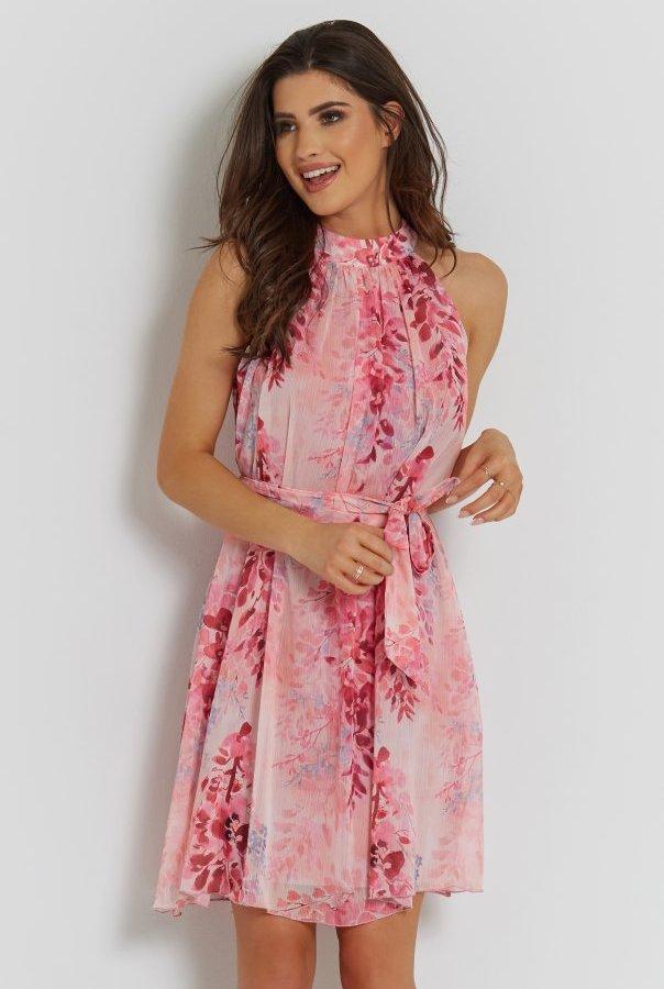 Sukienki 281-RÓŻOWY