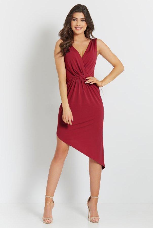 Sukienki 283-CZERWONY