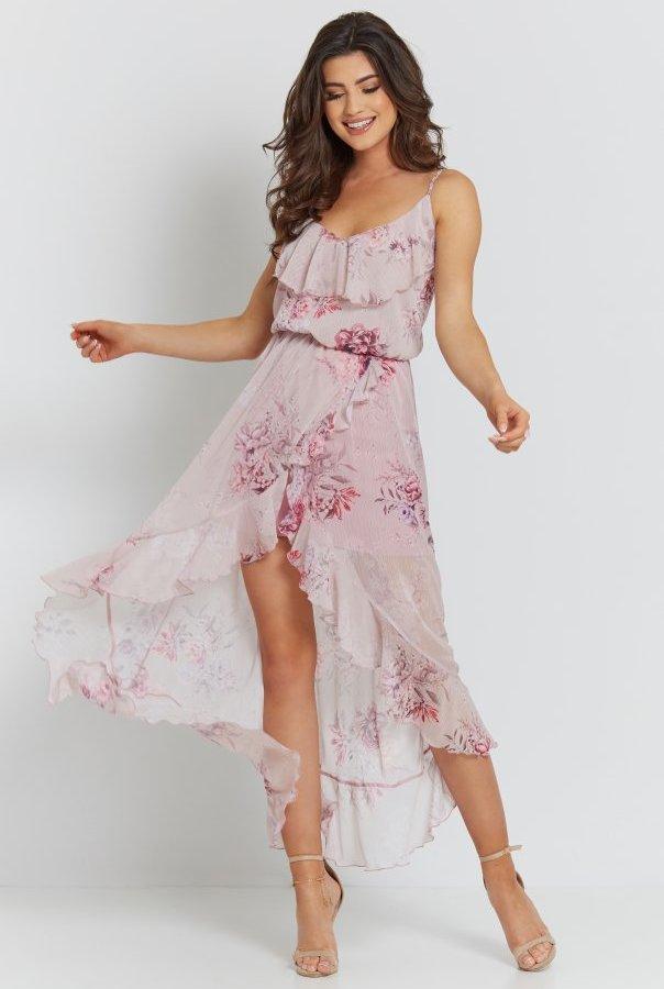 Sukienki 284-RÓŻOWY
