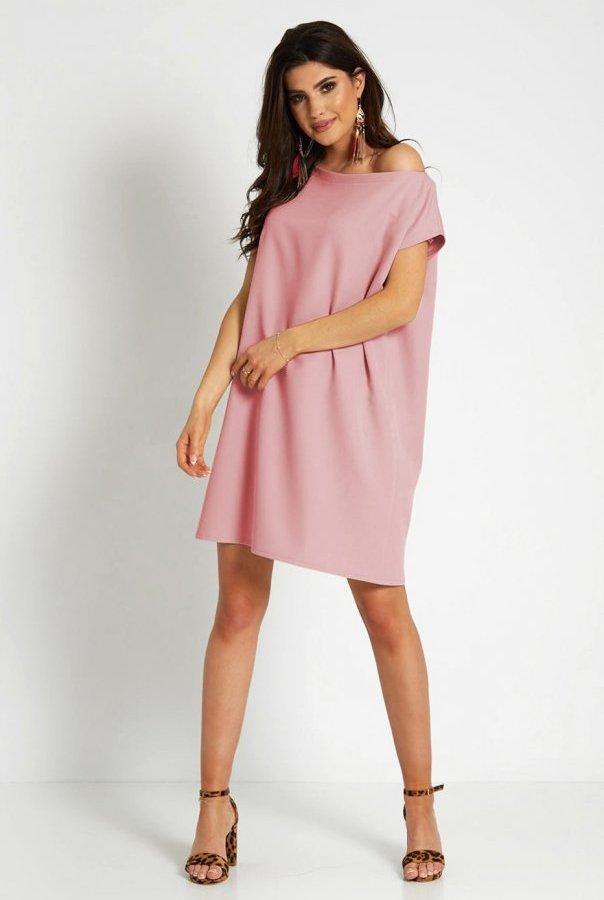 Sukienki 297-RÓŻOWY