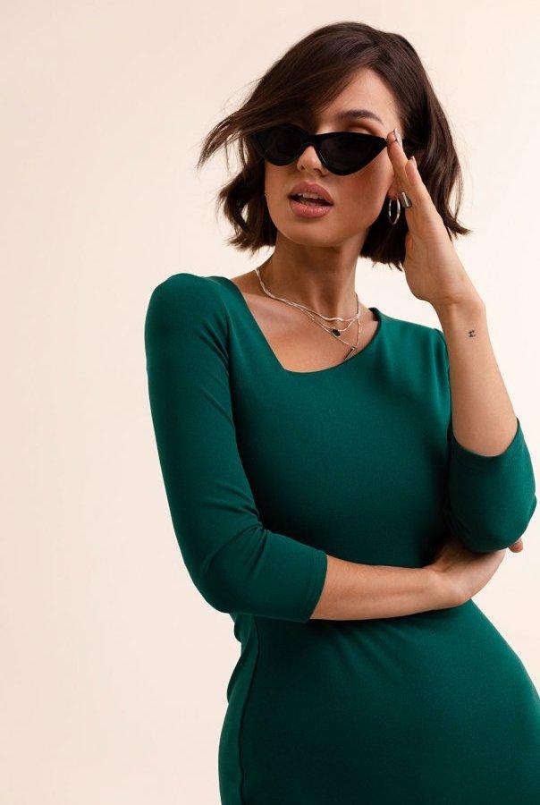 Sukienki 290-ZIELONA